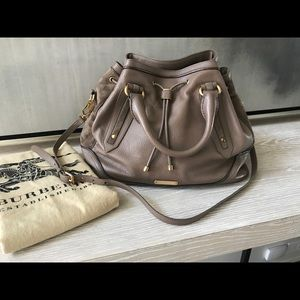 Burberry leather tote with original box & dust bag